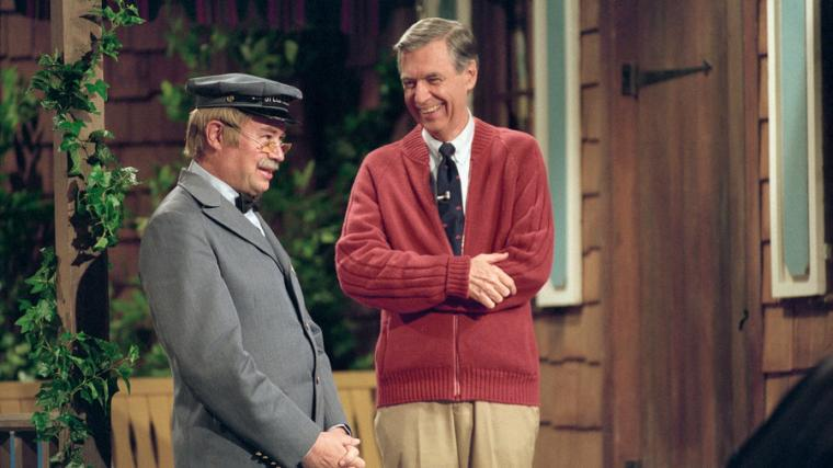 David Newell and Fred Rogers in Won't You Be My Neighbor?