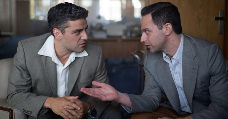 Oscar Isaac and Nick Kroll in Operation Finale