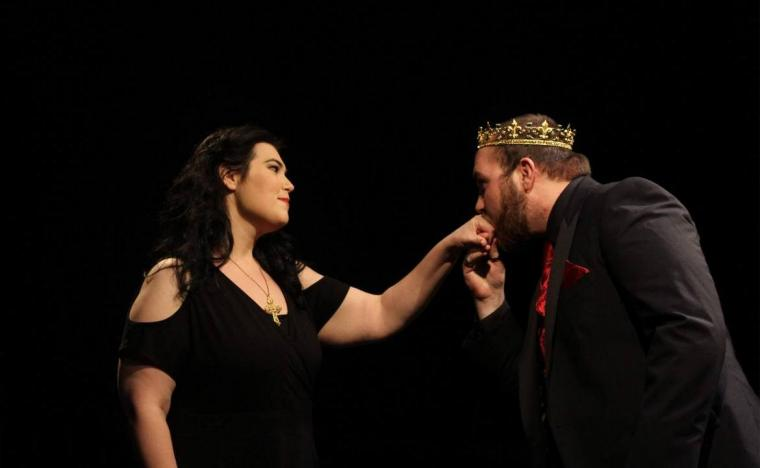 Kitty Israel and Payton Brasher in Henry VIII: All Is True