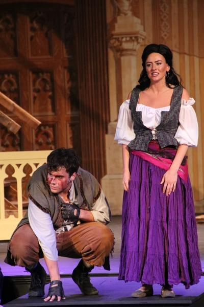 Adam Sanders and Heather Herkelman in The Hunchback of Notre Dame