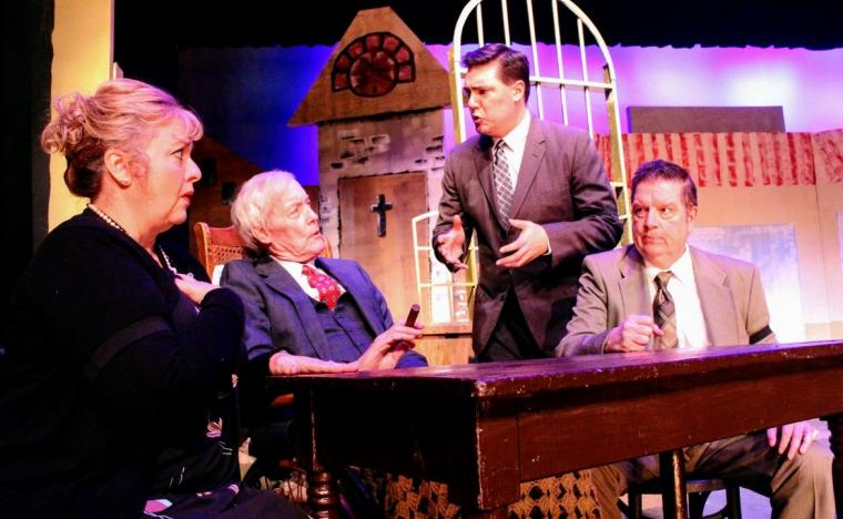 Terri Nelson, John Donald O'Shea, Patrick Downing, and Roger Akers in Miracle in Bedford Falls