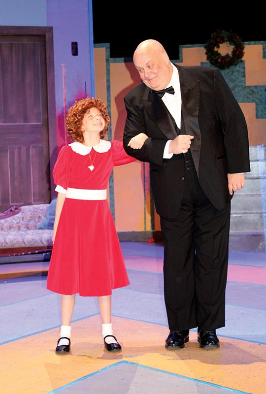 Chloe Knobloch and John Payonk in Annie