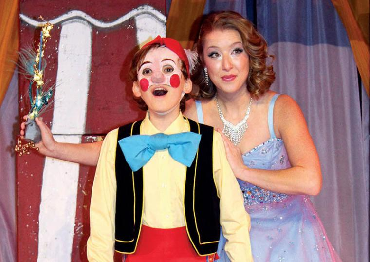 Brendan Hampton and Brooke Myers in Pinocchio