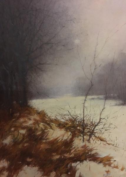 "Lee Kimball artwork in the ""Winder Wonderland"" exhibit at the Beréskin Gallery & Art Academy -- January 2 through 25."