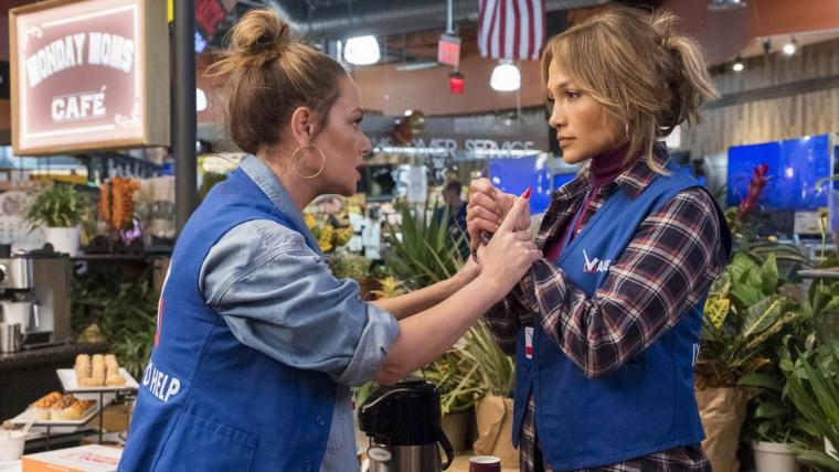 Leah Remini and Jennifer Lopez in Second Act
