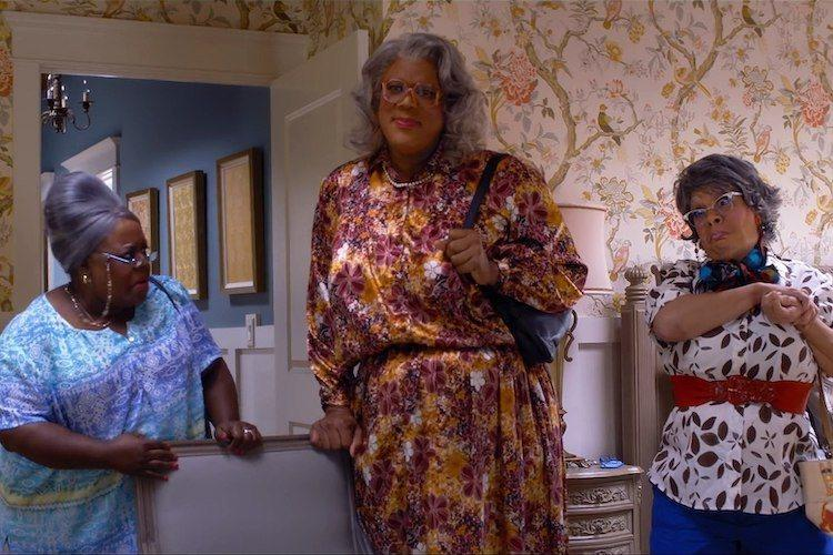 Cassi Davis, Tyler Perry, and Patrice Lovely in Tyler Perry's A Madea Family Funeral