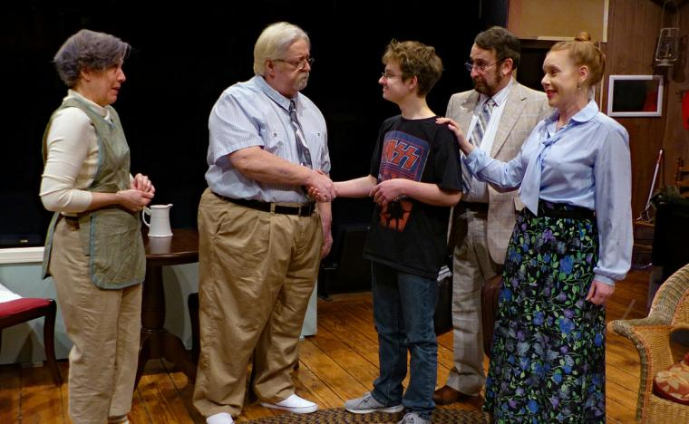 Jackie Patterson, John VanDeWoestyne, Joe Mroz, Gary Talsky, and Ann Keeney-Grafft in On Golden Pond