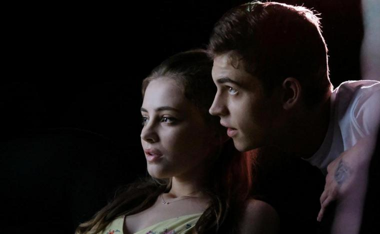 Josephine Langford and Hero Fiennes Tiffin in After