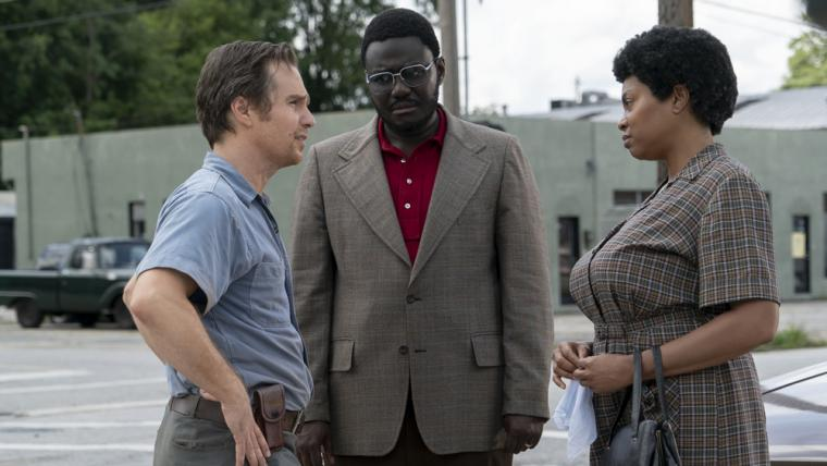 Sam Rockwell, Babou Ceesay, and Taraji P. Henson in The Best of Enemies