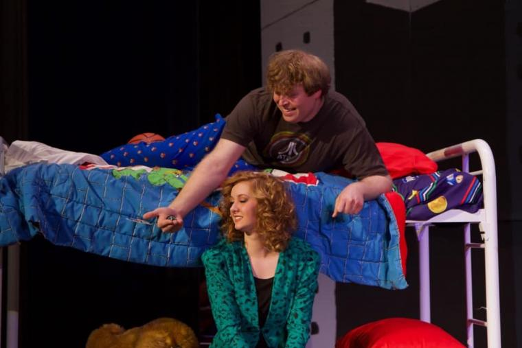 Becca Johnson and Ian Sodawasser in Big: The Musical