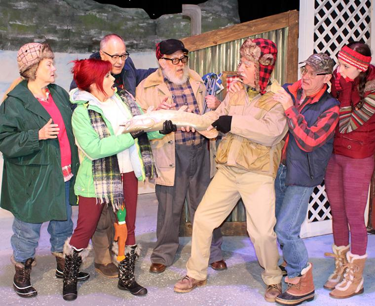 Regina Harbour, Miranda Jane, Doug Kutzli, Bob Marcus, Tom Walljasper, Brad Hauskins, and Molly McGuire in Grumpy Old Men: The Musical