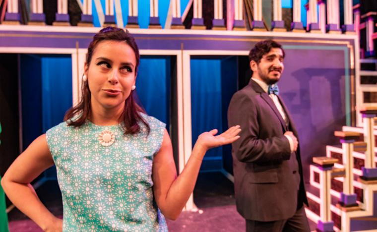 Muriel Melgoza and Rami Halabi in How to Succeed in Business without Really Trying