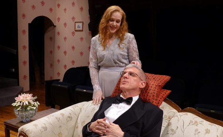 Ann Keeney-Grafft and Jim Driscoll in Blithe Spirit