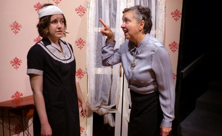Elizabeth Schaffer and Lona Friedman in Blithe Spirit