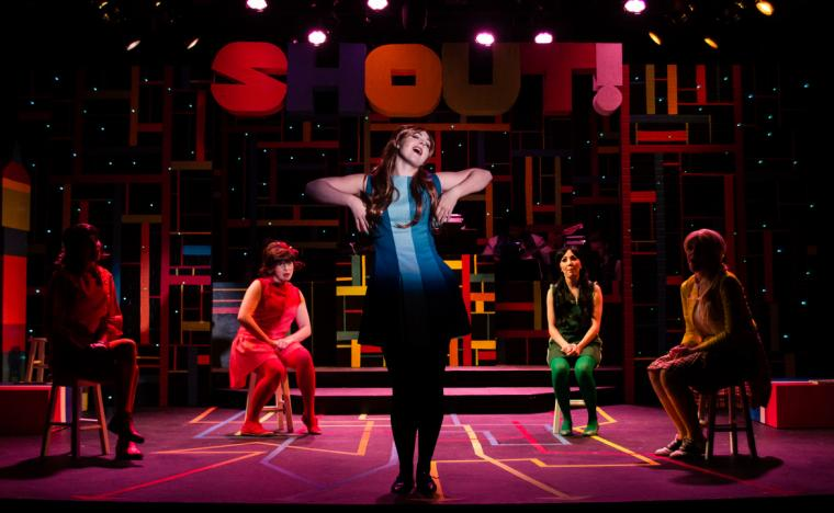 Lauren Medina, Sydney Howard, Eden Mau, Allison Winkel, and Kathryn Aarons in Shout! The Mod Musical
