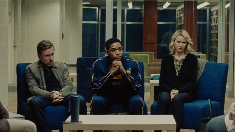 Tim Roth, Kelvin Harrison Jr., and Naomi Watts in Luce