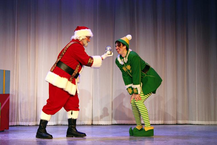 Janos Horvath and Stephen James Potter in Elf: The Musical