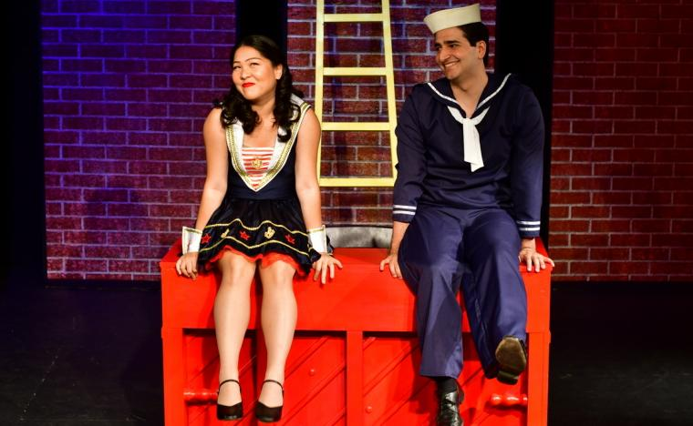 Mind Punyanuch-Pornsakulpaisal and Rami Halabi in the Mississippi Bend Players' Dames at Sea