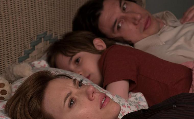 Scarlett Johansson, Azhy Robertson, and Adam Driver in Marriage Story
