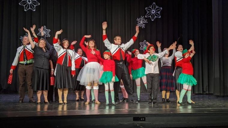 ensemble members in the Spotlight Theatre's Miracle on 34th Street