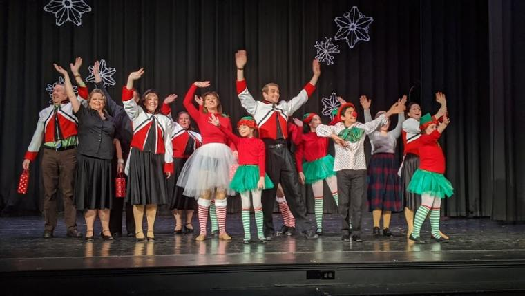 ensemble members in Miracle on 34th Street: The Musical