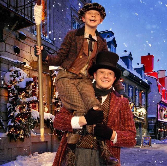 Chloe Knobloch and Tristan Tapscott in Mr. Scrooge! A Musical Christmas Carol