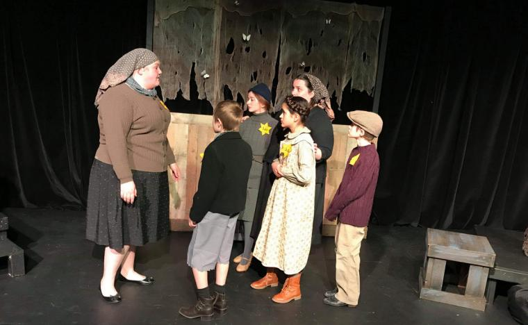 Isabel Trulson, Ethan Dunbridge, Marley Haley, Wrigley Mancha, Jaclyn Marta, and Grayson Dunbridge in I Never Saw Another Butterfly