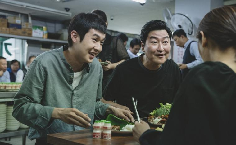 Choi Woo-sik and Song Kang-ho in Parasite