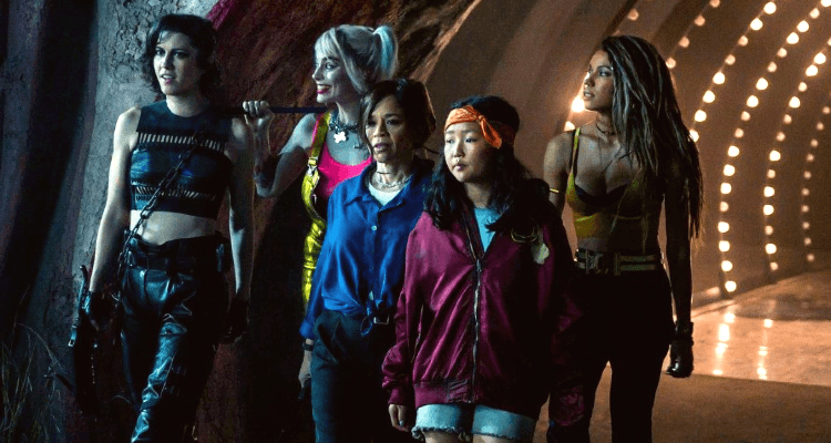Mary Elizabeth Winstead, Margot Robbie, Rosie Perez, Ella Jay Basco, and Jurnee Smollett-Bell in Birds of Prey (And the Fantabulous Emancipation of One Harley Quinn)