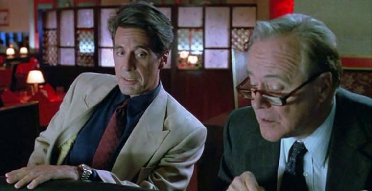 Al Pacino and Jack Lemmon in Glengarry Glen Ross