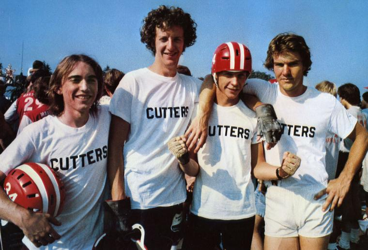 Jackie Earle Haley, Daniel Stern, Dennis Christopher, and Dennis Quaid in Breaking Away