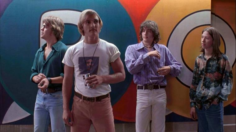 Sasha Jenson, Matthew McConaughey, Jason London, and Wiley Wiggins in Dazed & Confused