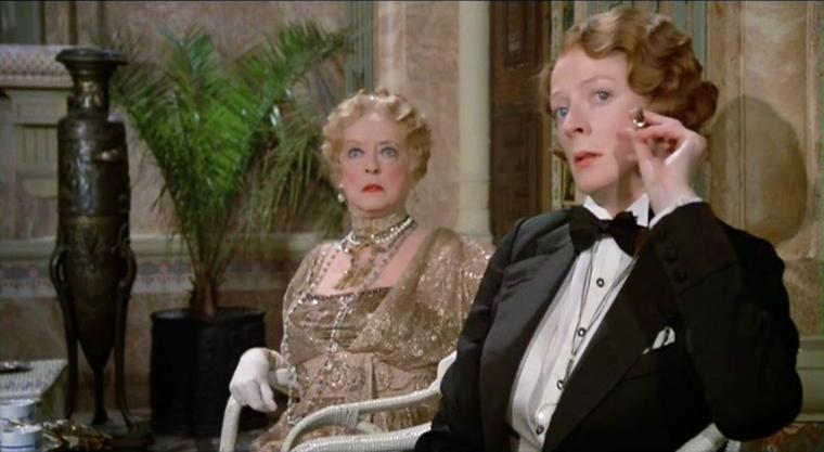 Bette Davis and Maggie Smith in Death on the Nile