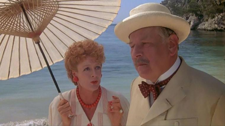 Maggie Smith and Peter Ustinov in Evil Under the Sun