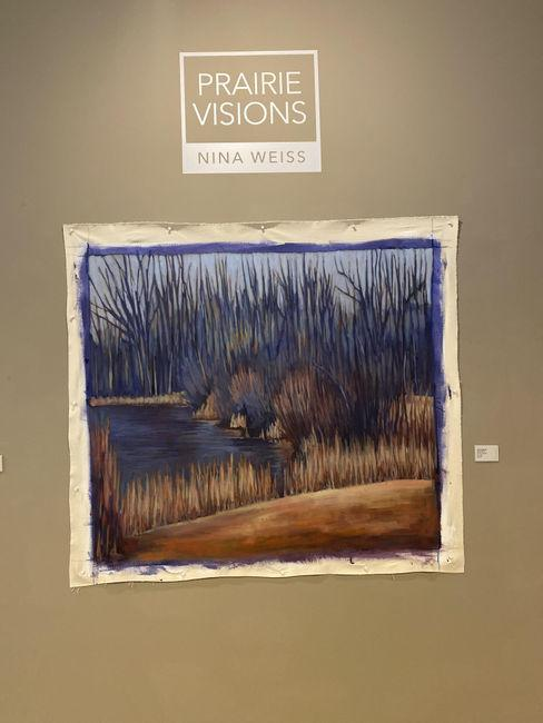 Nina Weiss artwork in the Prairie Visions exhibit