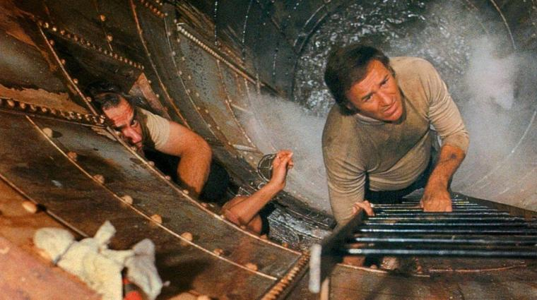 Ernest Borgnine and Gene Hackman in The Poseidon Adventure