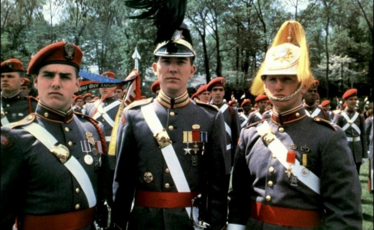 Tom Cruise, Timothy Hutton, and Sean Penn in Taps