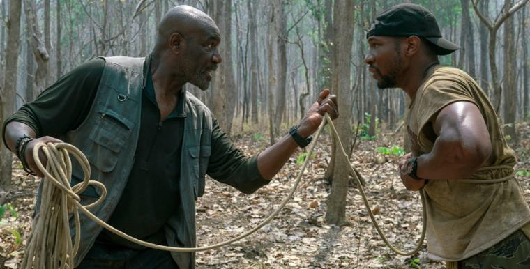 Delroy Lindo and Jonathan Majors in Da 5 Bloods