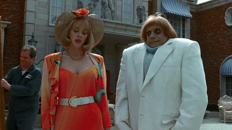 Joan Cusack and Christopher Lloyd in Addams Family Values