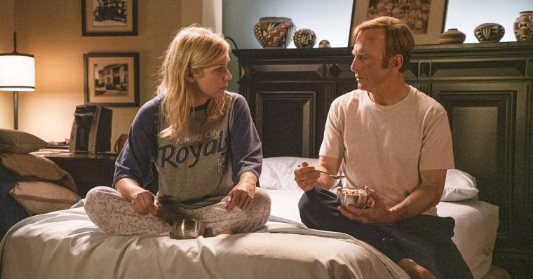 Rhea Seehorn and Bob Odenkirk in Better Call Saul