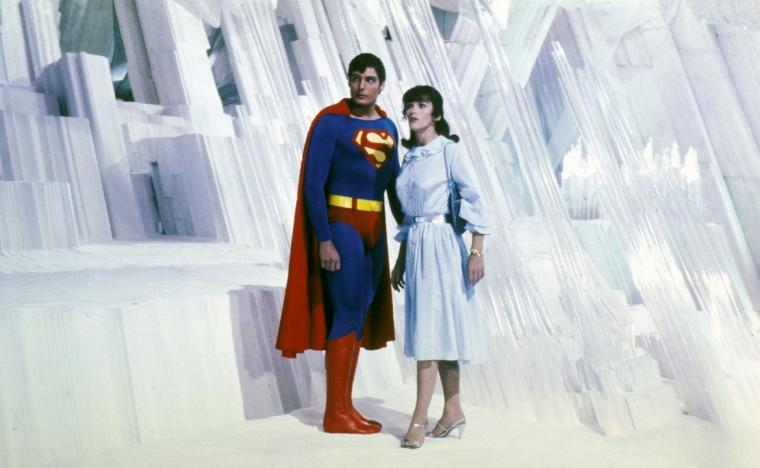 Christopher Reeve and Margot Kidder in Superman II