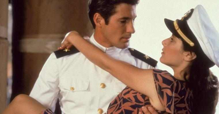 Richard Gere and Debra Winger in An Officer & a Gentleman