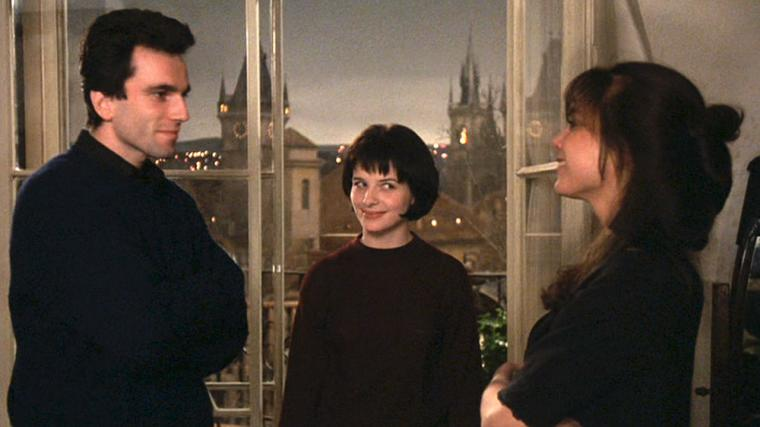 Daniel Day-Lewis. Juliette Binoche, and Lena Olin in The Unbearable Lightness of Being