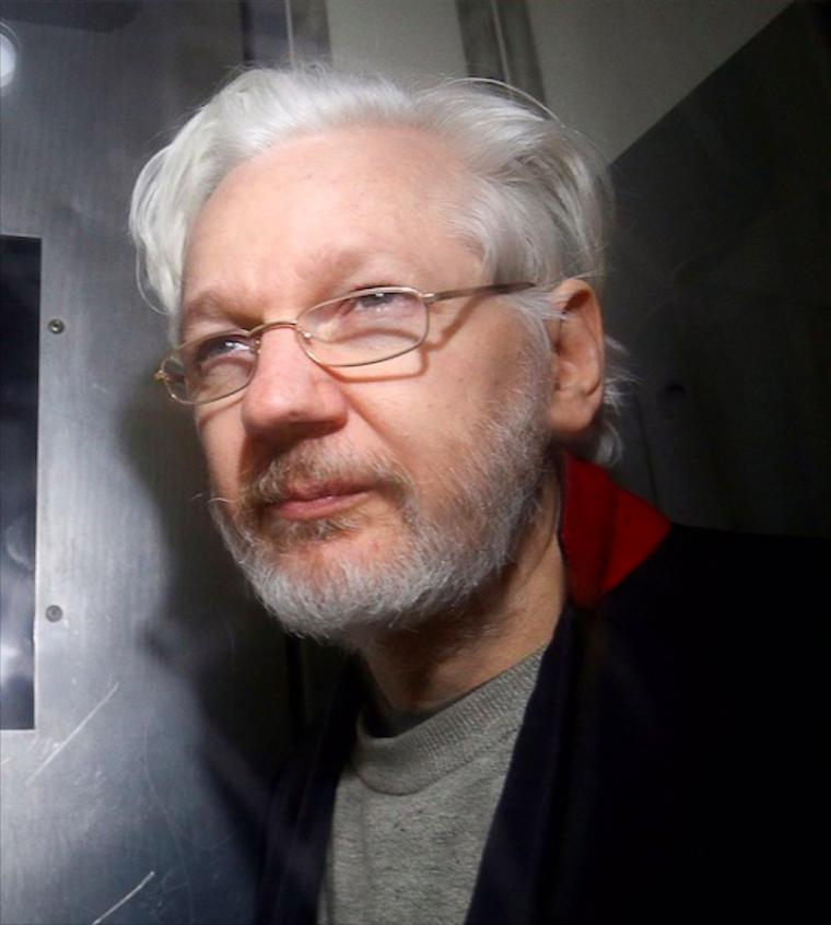 Julian Assange in 2020