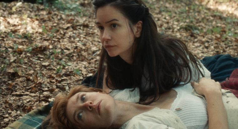 Vanessa Kirby and Katherine Waterston in The World to Come