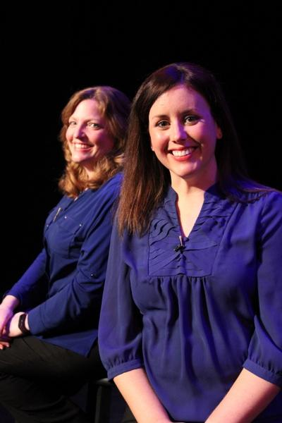 Sheri Brown Olson and Jennifer Sondgeroth in On with the Show: A QCMG Cabaret