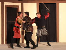 Mike King, Andy Koski, and Jonathan Gregoire in Romeo and Juliet