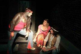 Sara Elizabeth Speight, Jenny Winn, and Tristan Layne Tapscott in Jesus Christ Superstar