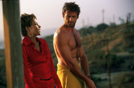 Halle Berry and Hugh Jackman in Swordfish