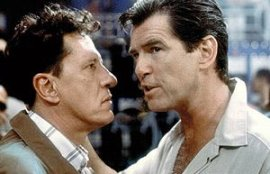 Geoffrey Rush and Pierce Brosnan in The Tailor of Panama